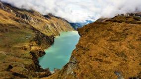 La visión desde las presas de Kaprun en Zell considera Fotos de archivo