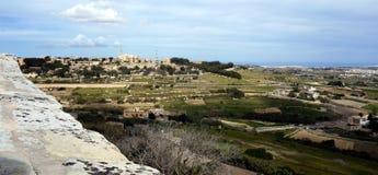 La visión desde Mdina Imágenes de archivo libres de regalías