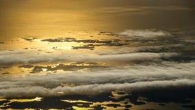 La visión desde un aeroplano Madrugada de la salida del sol fotografía de archivo