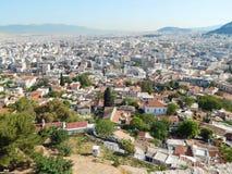 La visión en Atenas moderna de la acrópolis en Atenas Fotografía de archivo