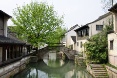 La visión en un pueblo tradicional chino  Imagen de archivo libre de regalías