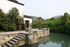 La visión en un pueblo tradicional chino  imagenes de archivo