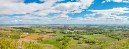 La visión panorámica desde el parque de Blomidon mira apagado Imagen de archivo