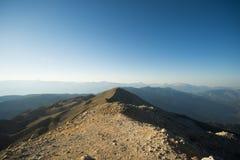 La visión panorámica desde la montaña de Olympos Fotos de archivo libres de regalías