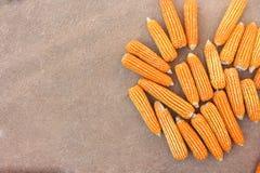 La visión superior, los granos dulces en cosecha sazona Fotos de archivo libres de regalías