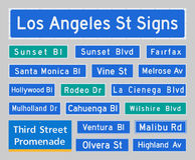 la visibilité directe d'Angeles signe la rue Photo stock