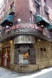 La visibilité directe traditionnelle de restaurant Caracoles dans le quart gothique Image libre de droits