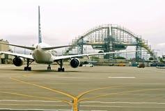 La visibilité directe pêche l'aéroport Photos stock