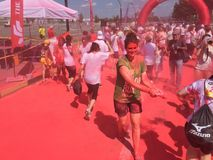 La visite 2015 de course de couleur Photos stock