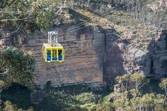 La visite de manière de ciel de câble aux montagnes bleues parc national, Nouvelle-Galles du Sud, Australie Photo libre de droits