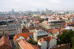 La vista aérea de la ciudad de Zagreb Fotografía de archivo libre de regalías