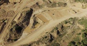 La vista aérea de la niveladora alinea la arena almacen de video