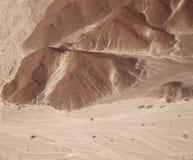 La vista aerea del Nazca allinea - Owlman, vista da una distanza Immagine Stock Libera da Diritti