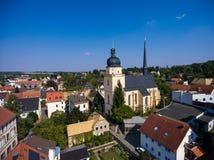 La vista aerea del san annen la Turingia Germania del goessnitz della chiesa Immagini Stock Libere da Diritti