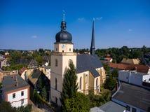 La vista aerea del san annen la Turingia Germania del goessnitz della chiesa Immagine Stock Libera da Diritti