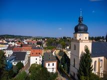 La vista aerea del san annen la Turingia Germania del goessnitz della chiesa Immagine Stock