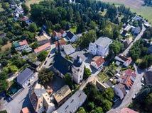 La vista aerea del san annen la Turingia Germania del goessnitz della chiesa Fotografia Stock