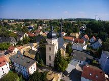 La vista aerea del san annen la Turingia Germania del goessnitz della chiesa Fotografia Stock Libera da Diritti