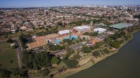 La vista aerea della città di sao Jose fa Rio Preto a Sao Paulo dentro Immagine Stock Libera da Diritti