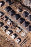 La vista aerea di costruzione alloggia il sito Fotografia Stock