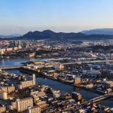 La vista aerea di Fukuoka Immagine Stock