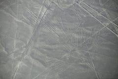 La vista aerea di Nazca allinea i geoglyphs nel Perù Fotografie Stock Libere da Diritti