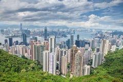 La vista aerea di suona il clacson Kong immagini stock