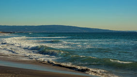 La vista al mar pacífica de una playa de Los Ángeles imágenes de archivo libres de regalías