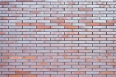 La vista alta vicina della cima ha dettagliato la foto di chiaro muro di mattoni pulito perfetto ideale per lo spazio della copia Immagini Stock Libere da Diritti