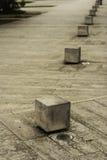 La vista artística del cemento pare en espacio público Foto de archivo libre de regalías