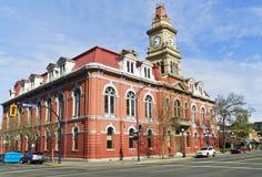 A la vista ayuntamiento Victoria Canadá Imágenes de archivo libres de regalías