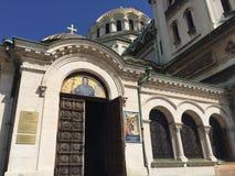 La vista cercana de la catedral de Sofía dedicó al santo Alexander Nevsky Fotos de archivo