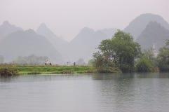 La vista cinese del paese Fotografie Stock