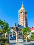 La vista con la torre Immagini Stock