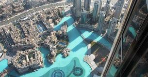 La vista da Burj Khalifa Immagini Stock