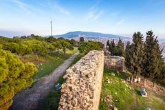 La vista da Kadifekale CastleView dal castello di Kadifekale, localmente conosciuto come Kadifekale è un castello antico fotografia stock