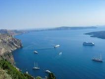 La vista da Santorini Fotografia Stock Libera da Diritti