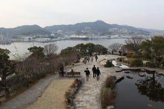La vista dal balcone superiore di precedente casa di bacino di Mitsubishi secondo Fotografia Stock