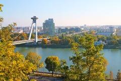 La vista dal castello di Bratislava fotografia stock libera da diritti