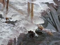 La vista dal nostro arcipelago e dal vedere sta congelandosi Fotografia Stock