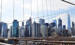 La vista dal ponte di Brooklyn fotografia stock