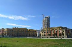 La vista dal quadrato di Scanderbeg Tirana, Albania immagine stock