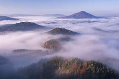 La vista dal vyhlidka di Vilemina trascura, la Svizzera della Boemia, repubblica Ceca Immagini Stock