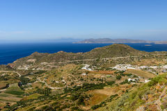 La vista dall'alta collina Fotografie Stock