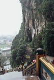 La vista dall'alta entrata di Batu scava vicino a Kuala Lumpur, Malesia Immagini Stock Libere da Diritti