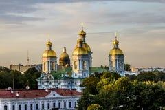 La vista dall'altezza della cattedrale di Nikolsky al tramonto dentro Fotografie Stock