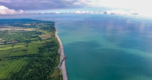 La vista dall'altezza sulla superficie della terra Immagine Stock Libera da Diritti