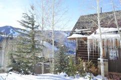 La vista dalla cabina del ` s di Allie, il Beaver Creek, Vail ricorre, Avon, Colorado fotografia stock libera da diritti