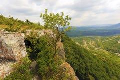 La vista dalla cima della montagna Immagini Stock