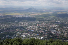 La vista dalla cima della montagna Immagine Stock